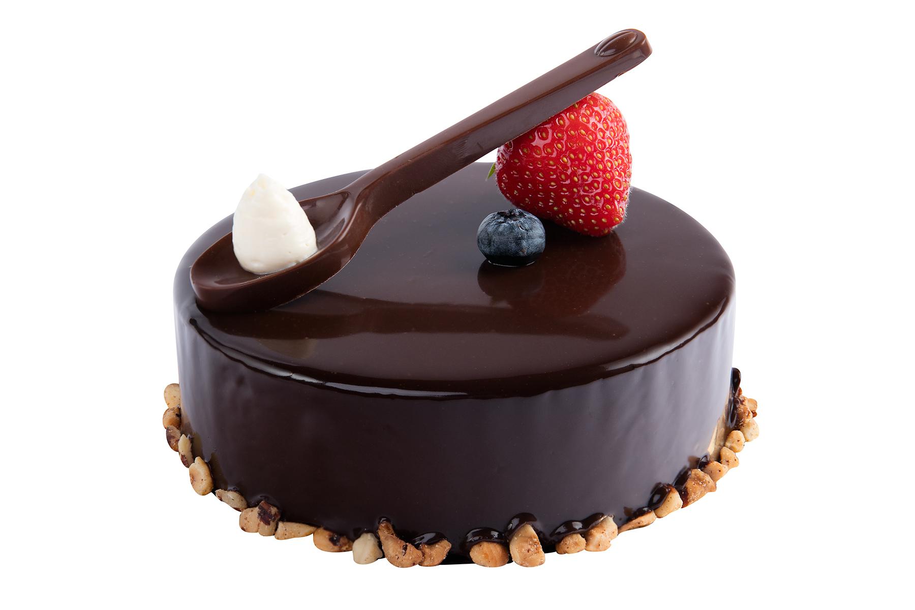 Шоколадный мини-торт с пломбиром