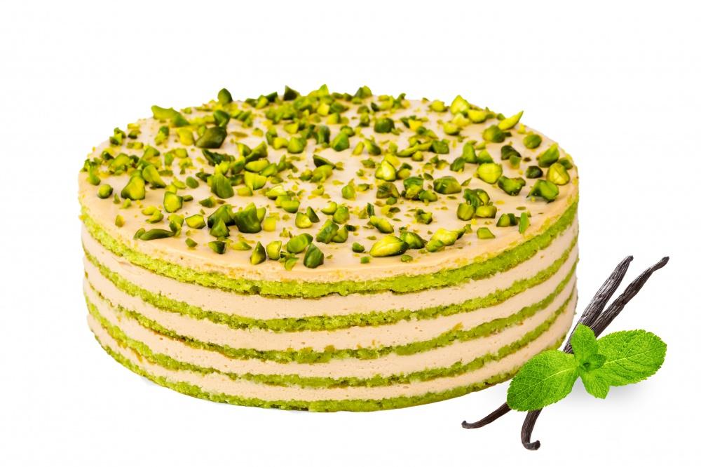 Карамельный торт Филадельфия с фисташками 1/6 торта
